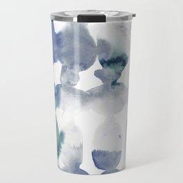 Dye Ovals Blue Green Grey Travel Mug