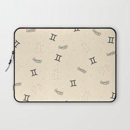 Gemini Pattern - Beige Laptop Sleeve
