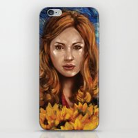 amy pond iPhone & iPod Skins featuring Amy Pond Vincent van Gogh Doctor Who by SachsIllustration