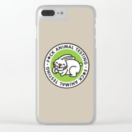 animal testing Clear iPhone Case