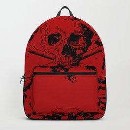 Skull and Crossbones Splatter Pattern Backpack