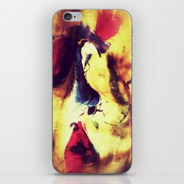 woman in red dress iPhone Skin