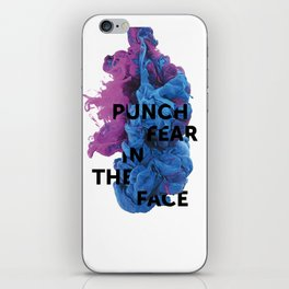 Punch Fear In The Face iPhone Skin