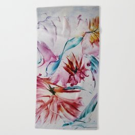 Asters Beach Towel