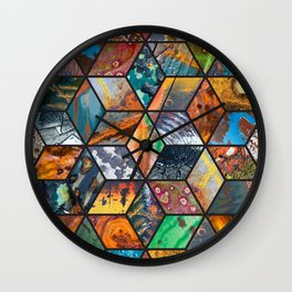 Junkyard Diamonds Wall Clock
