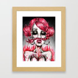 Quirky Kooky Goofy Framed Art Print