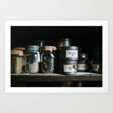 Vintage Pantry & Spices Art Print