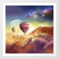 clouds,sky and ballons Art Print