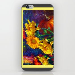 Sunflowers & fruit Fall Still Life Painting iPhone Skin