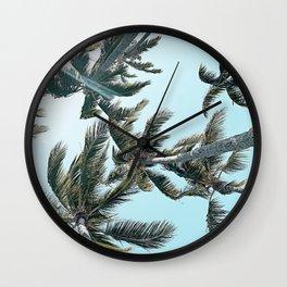 Perfect Palm Skies Wall Clock