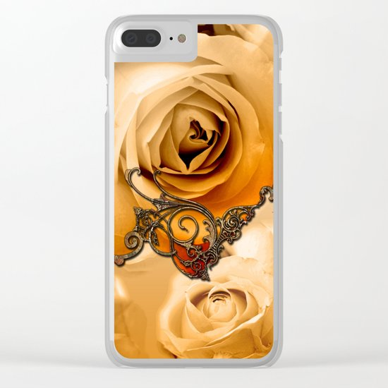 Wonderful roses in soft colors Clear iPhone Case