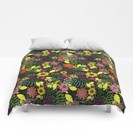 fruits and flowers Comforters