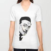 dali V-neck T-shirts featuring Dali by Dano77