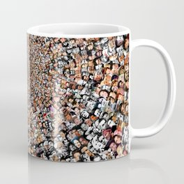 """The Work 3000 Famous and Infamous Faces Collage Coffee Mug"