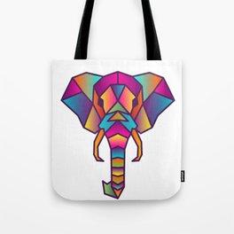 Elephant   Geometric Colorful Low Poly Animal Set Tote Bag
