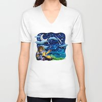 constellations V-neck T-shirts featuring constellations by Catus