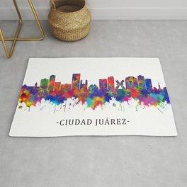 Ciudad Juárez Mexico Skyline Rug