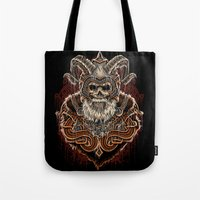 viking Tote Bags featuring VIKING by Demones