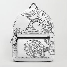 zen goldfish and waves Backpack