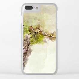 "Yellow dragonfly ""Sympetrum striolatum"" Clear iPhone Case"