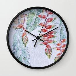 Heliconia rostrata. Wall Clock