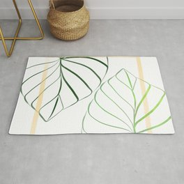 Colocasia Leaf Art #1 Rug