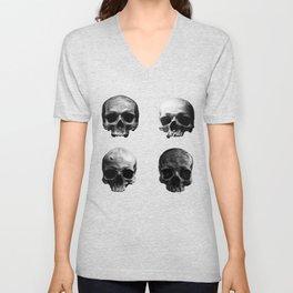 Skulls quartet BW Unisex V-Neck