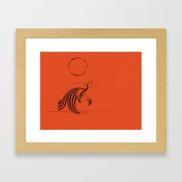 The Heat Framed Art Print