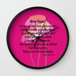 Christian Nurse Prayer Wall Clock
