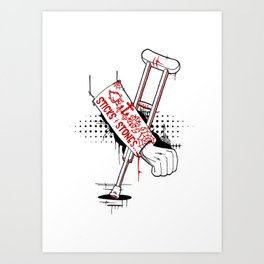 Accident Prone Art Print