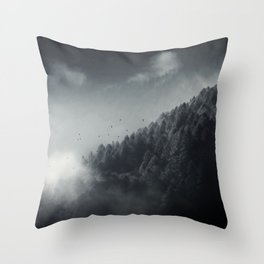 Misty Woodlands Throw Pillow