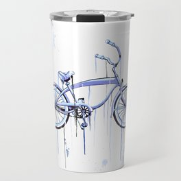 Blue Bike Travel Mug