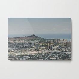 Diamond Head Town - Hawaii Metal Print