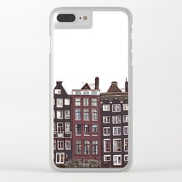 Traditional houses in Amsterdam Clear iPhone Case