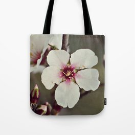 Almond Blossoms on a Budding Branch Tote Bag