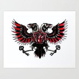Tattoo Crow Art Print