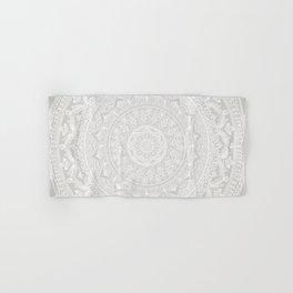 Mandala Soft Gray Hand & Bath Towel