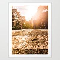 CURVE STREET Art Print