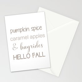 Words of Fall Stationery Cards