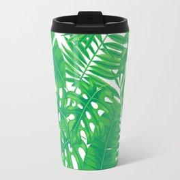 Tropical leaves pattern Travel Mug