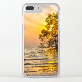 Sunrise over mangrove trees Clear iPhone Case