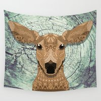 bambi Wall Tapestries featuring Bambi by ArtLovePassion