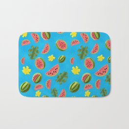 Summer Watermelon Pattern Bath Mat