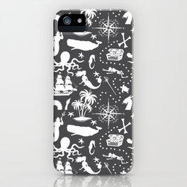 High Seas Adventure // Charcoal iPhone Case