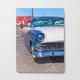 blu crown vic  Metal Print