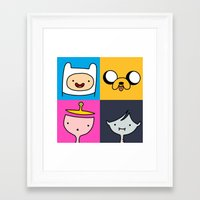 finn and jake Framed Art Prints featuring Finn & Jake by fungopolly