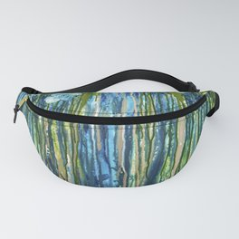 Forget me not -  Blue floral abstract Fanny Pack