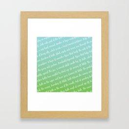 Dental Jargon Art Framed Art Print
