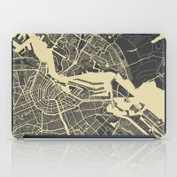 amsterdam iPad Cases featuring Amsterdam by Map Map Maps