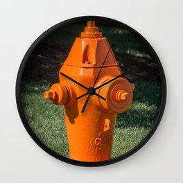 Clow F2500 Orange Fire Hydrant Fire Plug Fire Suppression Fire Fighting Wall Clock